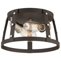 Presidio 2 Light 12 inch Rustique Flush Mount Ceiling Light