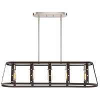 Presidio 5 Light 40 inch Rustique Linear Chandelier Ceiling Light