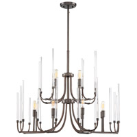 Laretto 12 Light 31 inch Satin Copper Bronze Chandelier Ceiling Light