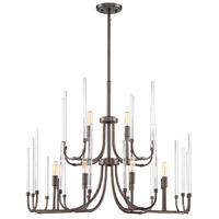 Designers Fountain 917812-SCB Laretto 12 Light 31 inch Satin Copper Bronze Chandelier Ceiling Light