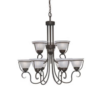 Designers Fountain Galleria 9 Light Chandelier in Oil Rubbed Bronze 9179-ORB