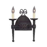 Designers Fountain 9181-NI Alhambra 2 Light 12 inch Natural Iron Wall Sconce Wall Light