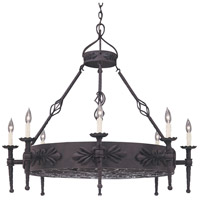 Alhambra 8 Light 41 inch Natural Iron Island Pendant Ceiling Light