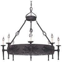 Designers Fountain 9185-NI Alhambra 8 Light 41 inch Natural Iron Island Pendant Ceiling Light