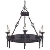 Designers Fountain Alhambra 6 Light Island Pendant in Natural Iron 9186-NI