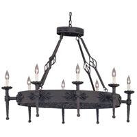 Designers Fountain Alhambra 8 Light Island Pendant in Natural Iron 9188-NI