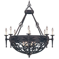 Designers Fountain 9189-NI Alhambra 14 Light 41 inch Natural Iron Chandelier Ceiling Light