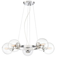 Welton 5 Light 27 inch Chrome Chandelier Ceiling Light