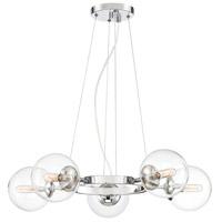 Designers Fountain 92085-CH Welton 5 Light 27 inch Chrome Chandelier Ceiling Light