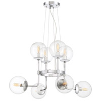 Welton 8 Light 30 inch Chrome Chandelier Ceiling Light