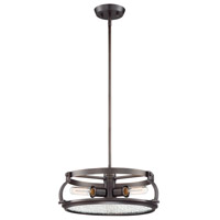 Eaton 3 Light 18 inch Satin Copper Bronze Pendant Ceiling Light