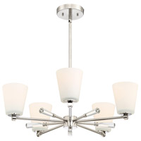 Designers Fountain 92285-PN Abree 5 Light 25 inch Polished Nickel Chandelier Ceiling Light