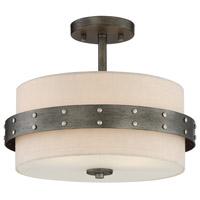 Designers Fountain 92411-WI Garrett 2 Light 14 inch Weathered Iron Semi-Flushmount Ceiling Light
