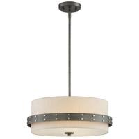 Designers Fountain 92431-WI Garrett 3 Light 18 inch Weathered Iron Pendant Ceiling Light