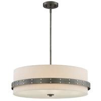 Designers Fountain 92433-WI Garrett 4 Light 24 inch Weathered Iron Pendant Ceiling Light