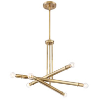 Emmett 6 Light 26 inch Old Satin Brass Chandelier Ceiling Light