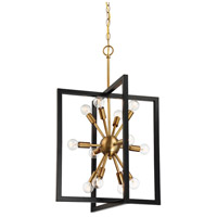 Designers Fountain 92850-AWB Xander 12 Light 19 inch Aged Warm Brass Pendant Ceiling Light