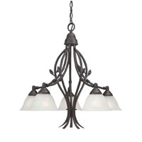 Designers Fountain Garland 5 Light Chandelier in Oil Rubbed Bronze 9286-ORB photo thumbnail