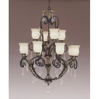 Designers Fountain Windsor Heights 12 Light Chandelier in Sable 92912-SL thumb