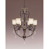 Designers Fountain Windsor Heights 6 Light Chandelier in Sable 9296-SL thumb