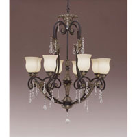 Designers Fountain Windsor Heights 8 Light Chandelier in Sable 9298-SL thumb