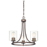 Designers Fountain 93083-SCB Liam 3 Light 20 inch Satin Copper Bronze Chandelier Ceiling Light