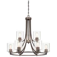 Designers Fountain 93089-SCB Liam 9 Light 30 inch Satin Copper Bronze Chandelier Ceiling Light