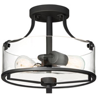 Jedrek 2 Light 13 inch Black Semi-Flushmount Ceiling Light
