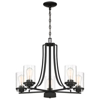 Jedrek 5 Light 27 inch Black Chandelier Ceiling Light