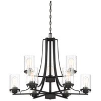 Jedrek 9 Light 33 inch Black Chandelier Ceiling Light