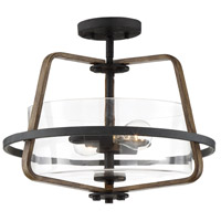 Designers Fountain 93511-FB Ryder 2 Light 17 inch Forged Black Semi-Flush Mount Ceiling Light