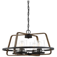Designers Fountain 93584-FB Ryder 4 Light 22 inch Forged Black Chandelier Ceiling Light