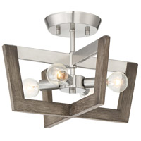 Designers Fountain 93711-SP Westend 4 Light 14 inch Satin Platinum Semi-Flush Mount Ceiling Light