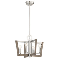 Designers Fountain 93784-SP Westend 4 Light 18 inch Satin Platinum Chandelier Ceiling Light