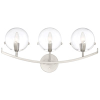 Designers Fountain 93803-SP Spyglass 3 Light 24 inch Satin Platinum Bath Bar Wall Light