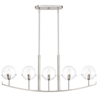 Designers Fountain 93838-SP Spyglass 5 Light 40 inch Satin Platinum Island Light Ceiling Light