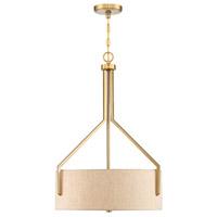 Designers Fountain 93931-BG Elara 3 Light 20 inch Brushed Gold Pendant (Inverted) Ceiling Light