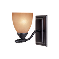 Designers Fountain 94001-ORB Apollo 1 Light 5 inch Oil Rubbed Bronze Wall Sconce Wall Light