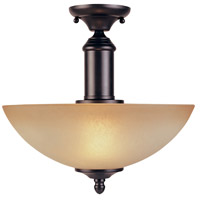 Apollo 2 Light 120 Oil Rubbed Bronze Semi-Flush Ceiling Light