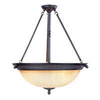 Apollo 3 Light 120 Oil Rubbed Bronze Pendant Ceiling Light