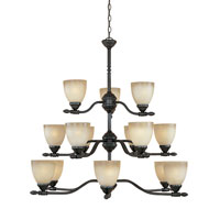 Designers Fountain Apollo 15 Light Chandelier in Oil Rubbed Bronze 940815-ORB
