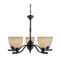 Apollo 5 Light 24 inch Oil Rubbed Bronze Chandelier Ceiling Light