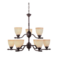 Designers Fountain 94089-ORB Apollo 9 Light 30 inch Oil Rubbed Bronze Chandelier Ceiling Light