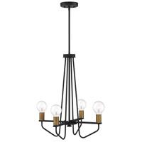 Designers Fountain 94234-BK Ravella 4 Light 20 inch Black Chandelier Ceiling Light
