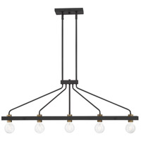 Designers Fountain 94238-BK Ravella 5 Light 42 inch Black Island Chandelier Ceiling Light
