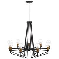 Designers Fountain 94289-BK Ravella 9 Light 30 inch Black Chandelier Ceiling Light