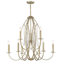 Designers Fountain 94489-SG Hutton 9 Light 32 inch Sterling Gold Chandelier Ceiling Light