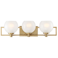 Designers Fountain 94503-BG Cowen 3 Light 24 inch Brushed Gold with Gold Accent Bath Bar Wall Light