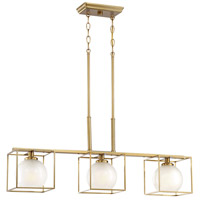 Designers Fountain 94538-BG Cowen 3 Light 34 inch Brushed Gold Island Chandelier Ceiling Light
