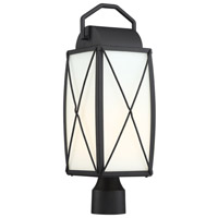 Designers Fountain 94696-BK Fairlington 1 Light 20 inch Black Post Lantern